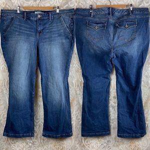 Torrid 24 short jeans whitewashed back flap pocket